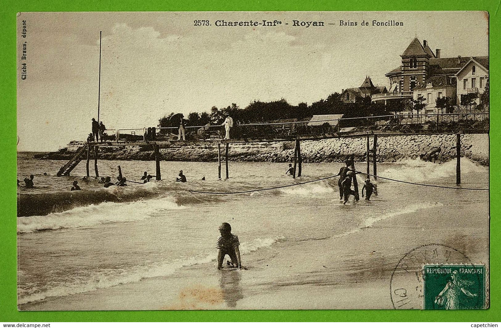 ROYAN / LES BAINS DE FONCILLON.....Carte écrite En 1912 - Royan