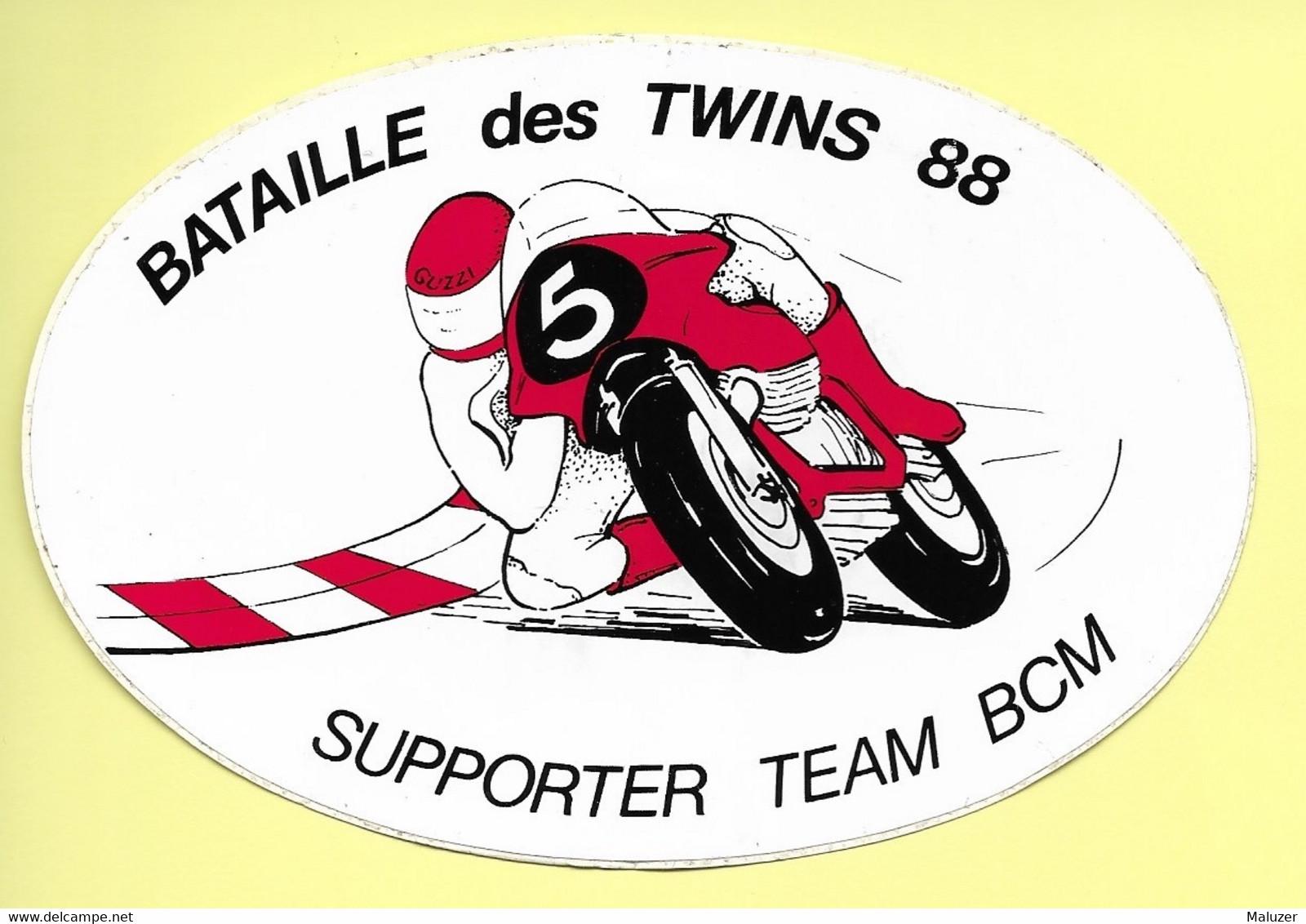 AUTOCOLLANT STICKER ADHÉSIF - BATAILLE DES TWINS 88 - SUPPORTER TEAM BCM - MOTO - MOTOS - SPORT - Stickers