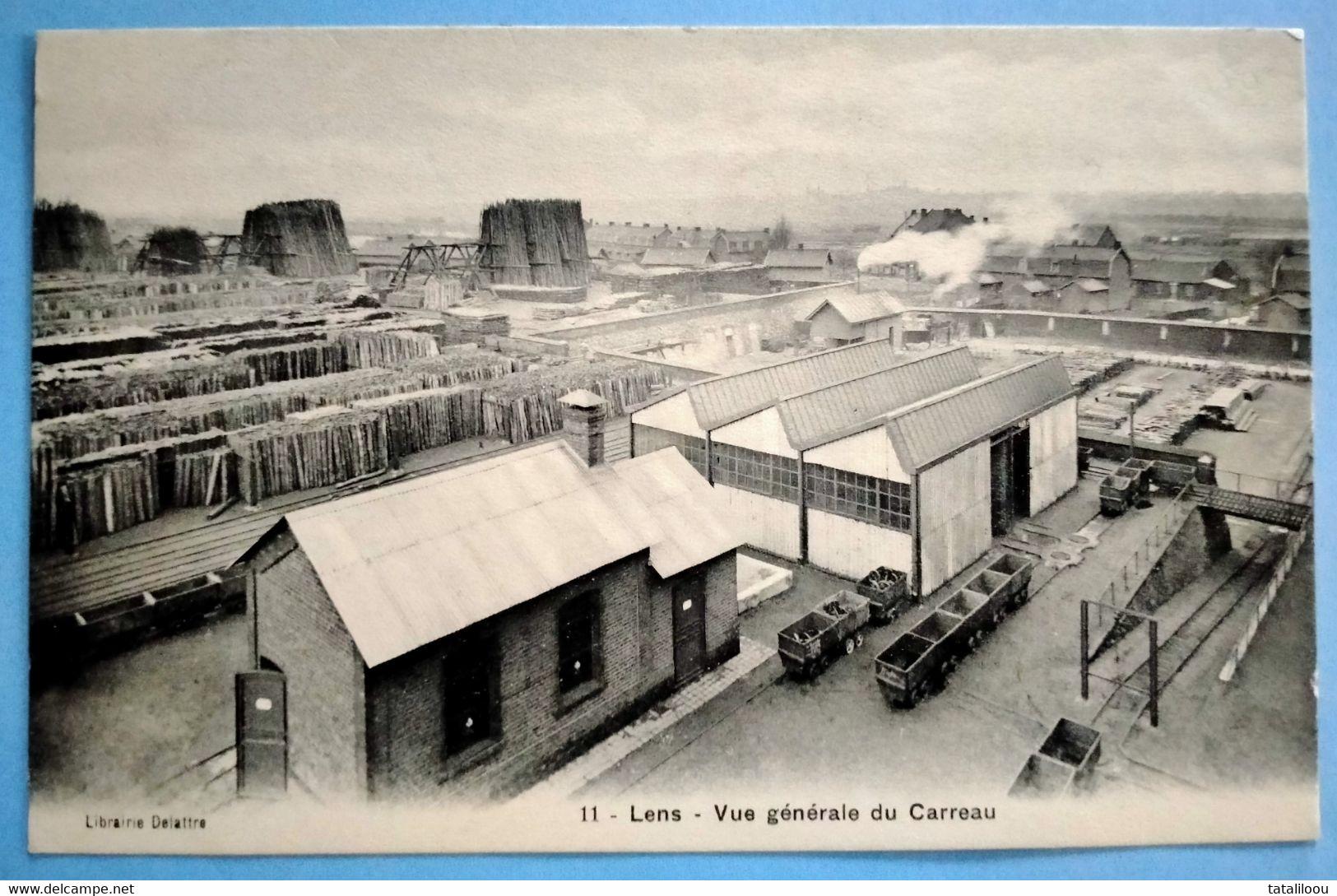 Carte Postale Ancienne - LENS -Vue Générale Du Carreau - Mijnen
