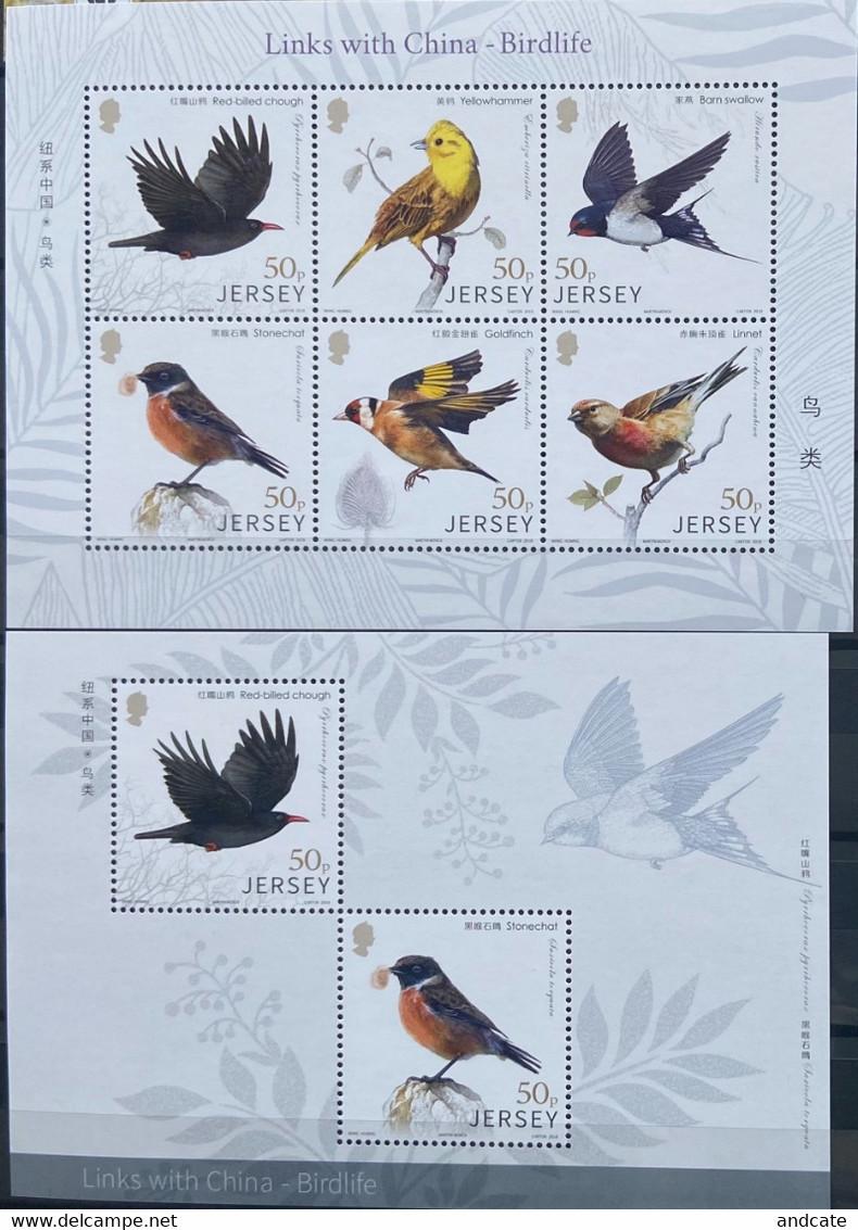 Jersey 2018 MNH -  China Birdlife - Jersey