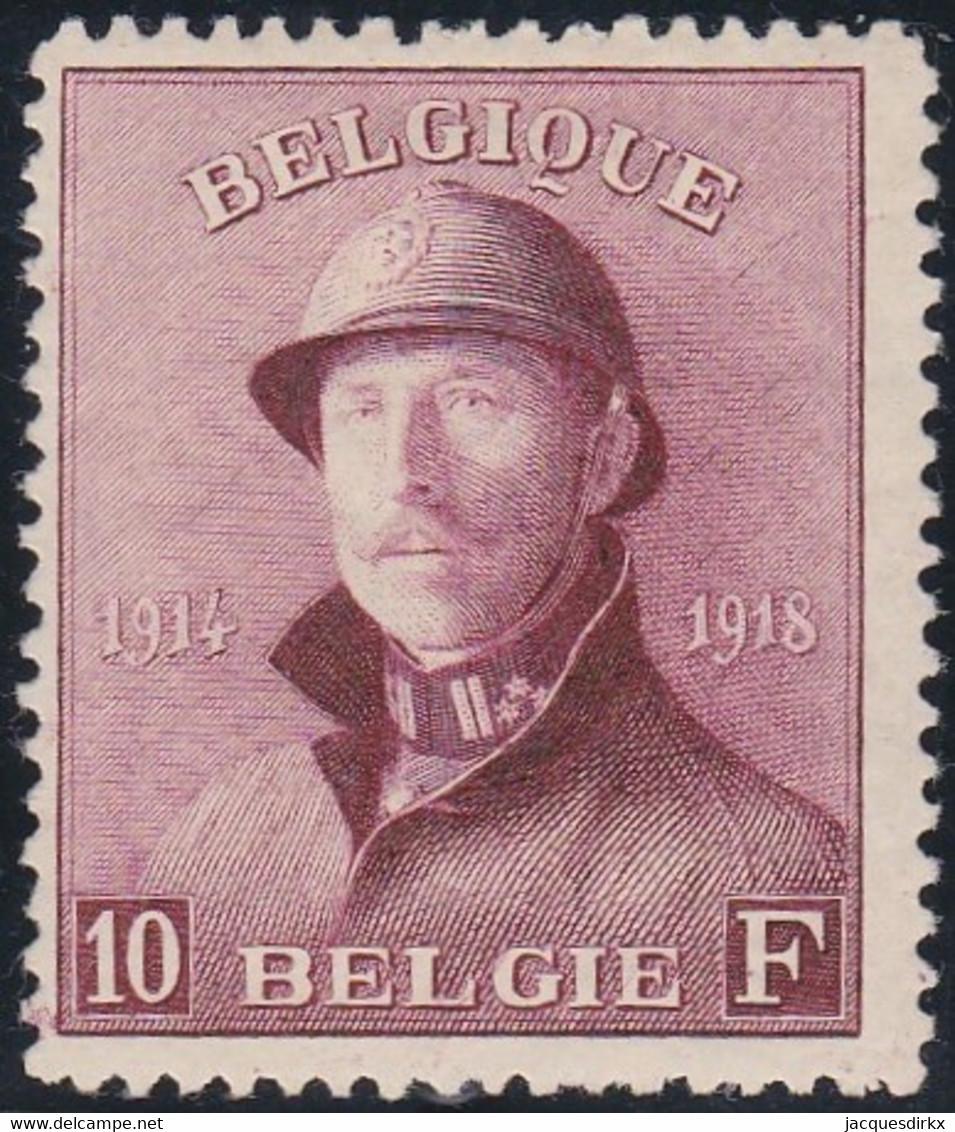 Belgie   .   OBP    .    178  (2 Scans      .   *     .    Ongebruikt Met Gom   .   /   .   Neuf Avec Gomme Et Charnière - 1919-1920 Trench Helmet