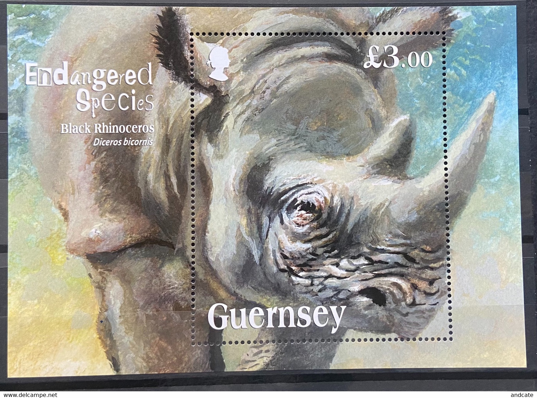 Guernsey 2018 MNH - Endangered Species The Black Rhinoceros - Guernsey