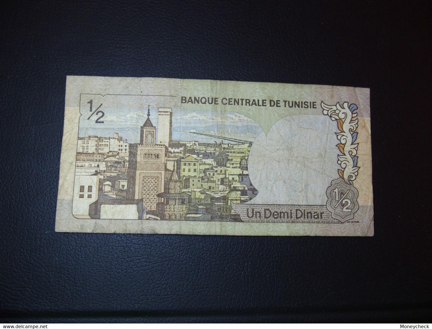 1/2 Dinars Tunisie - Tunesia - Tunisia