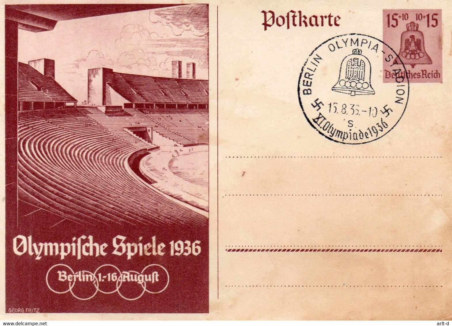 DC1344 - Ak Olympia Olympische Spiele 1936 Berlin 1936 - Juegos Olímpicos