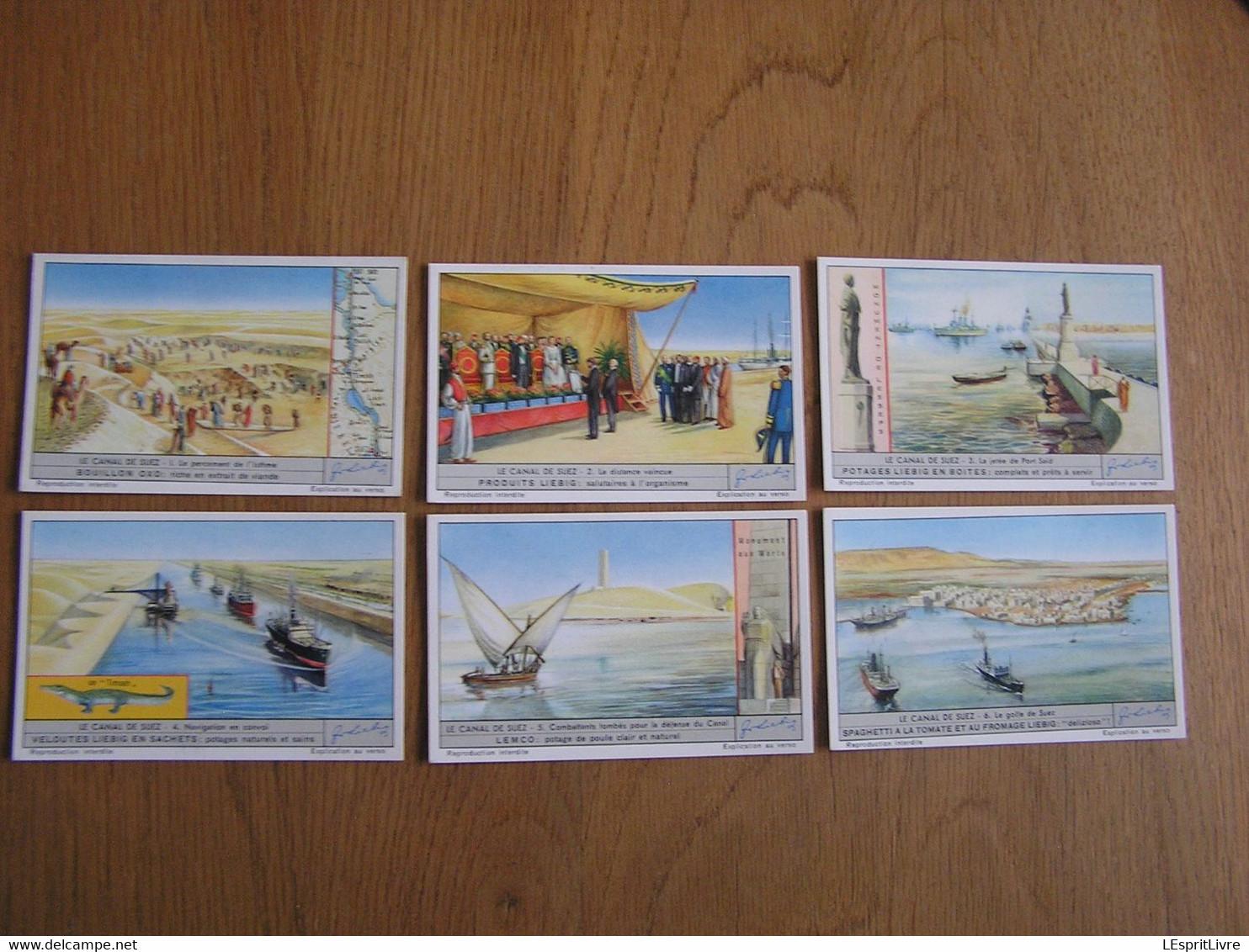 LIEBIG Le Canal De Suez Série De 6 Chromos Trading Cards Chromo - Liebig