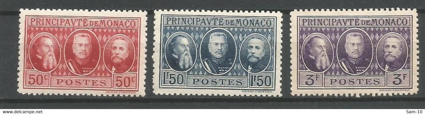 Timbre Monaco En Neuf ** N 111/113 Séries Compléte - Ongebruikt