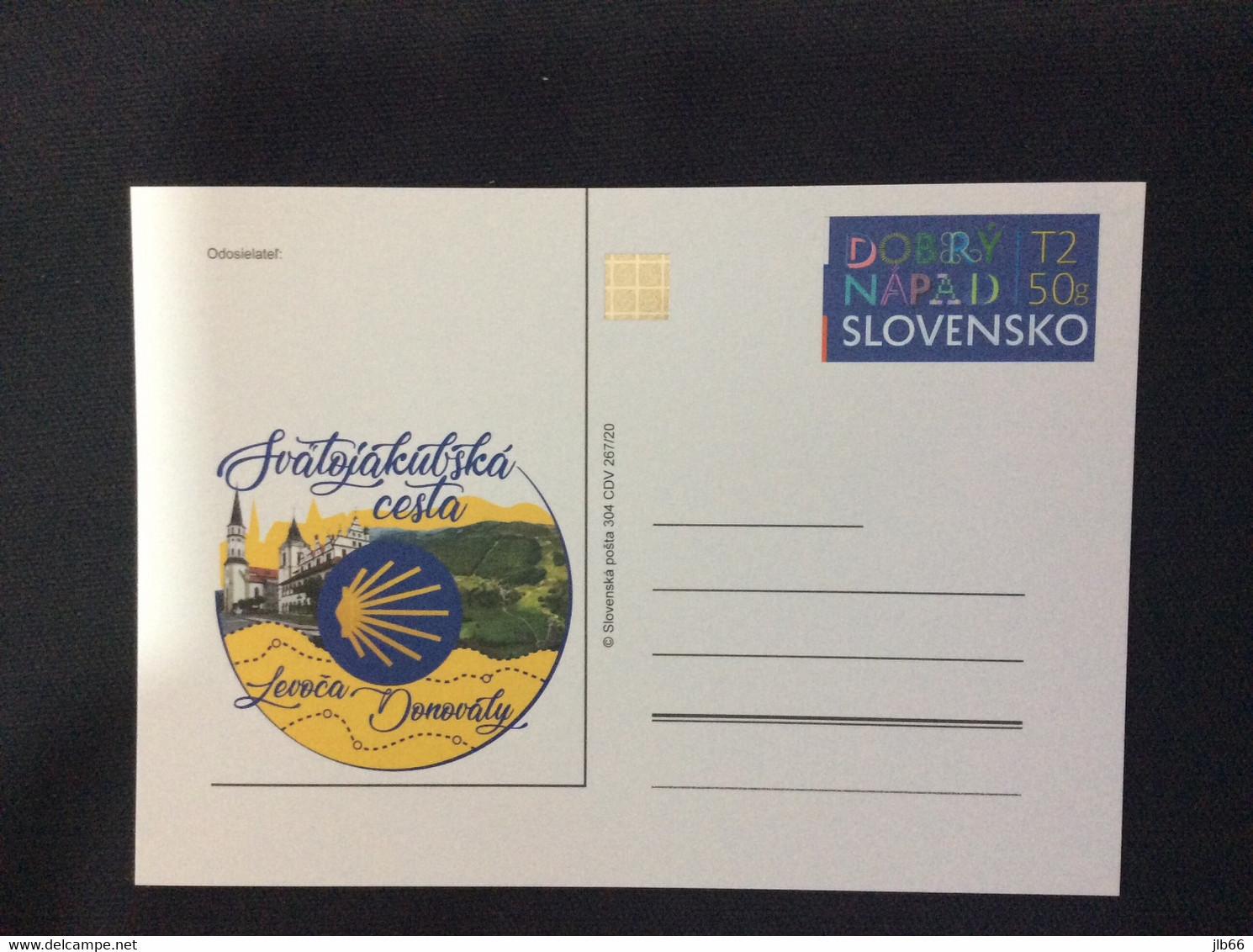SK 2020 CDV 304. Chemin De Saint Jacques St Jacob De Compostelle De Levoča A Donovály Coquille Path - Ansichtskarten