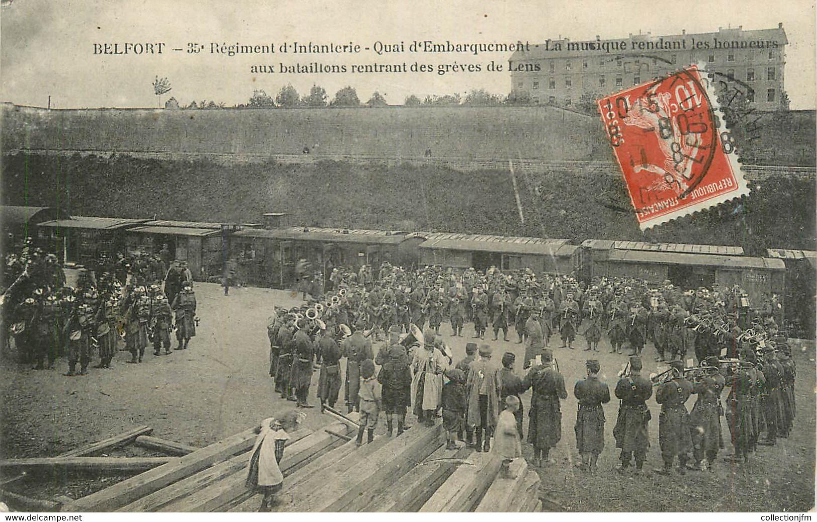"CPA FRANCE 90 "" Belfort, 35ème Régiment D'infanterie""'. / GREVES DE LENS - Belfort - Stad"