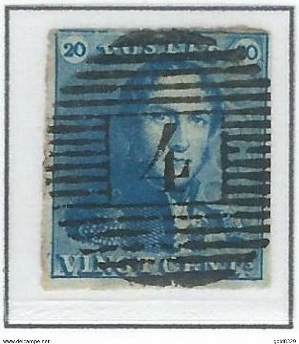 COB  2  Oblitérations Bureaux De Direction  P4 - Anvers - 1849 Epaulettes