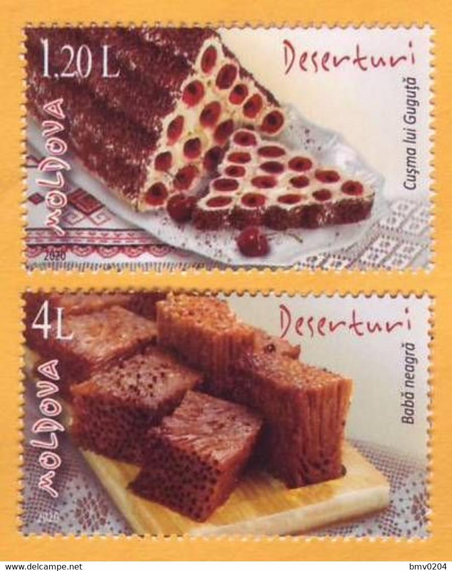 2020 Moldova Moldavie  National Cookery. Cakes, Dessert. 1v Mint - Moldavia