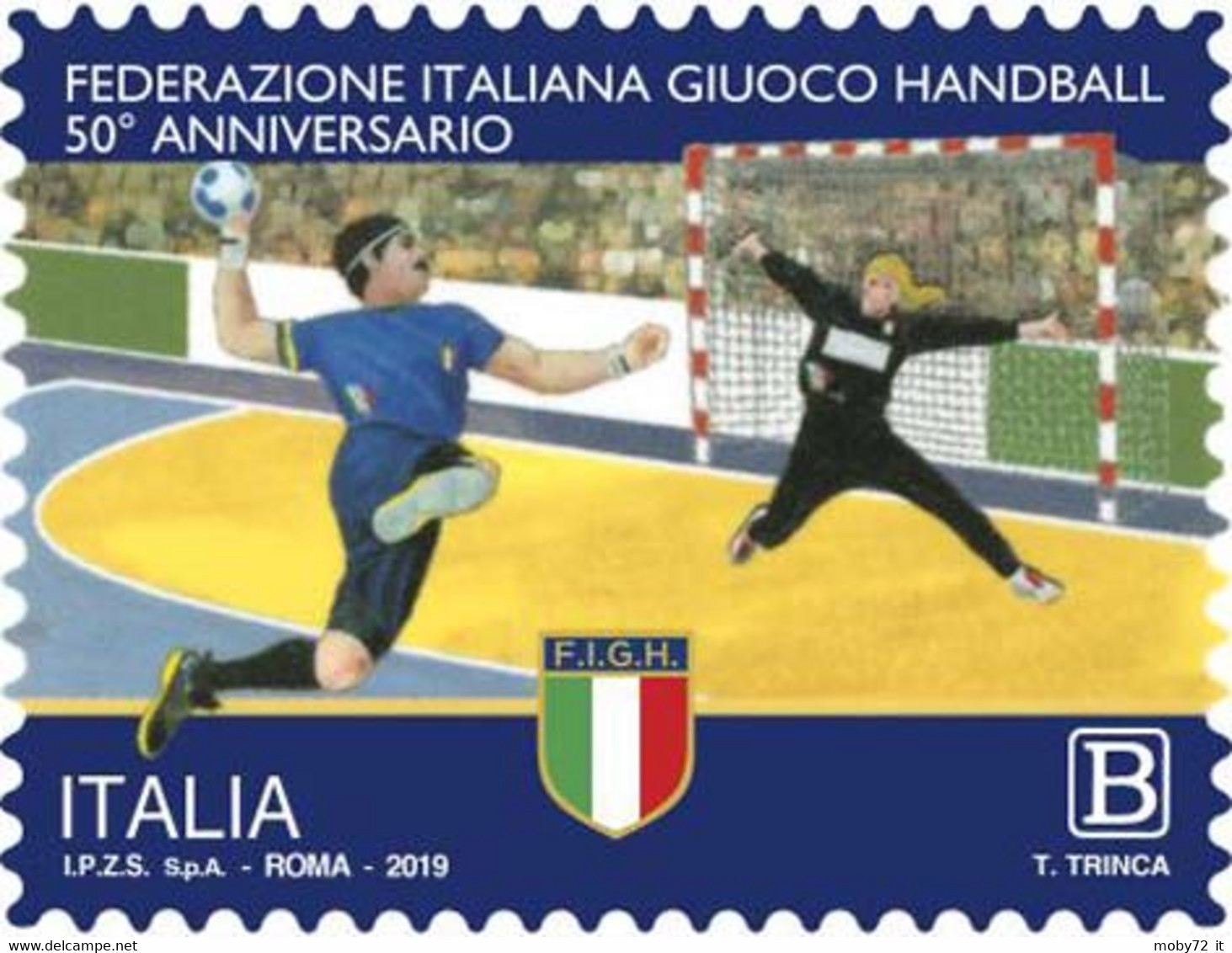 Italia - 2019 - Usato/used - Handball - 2011-...: Afgestempeld