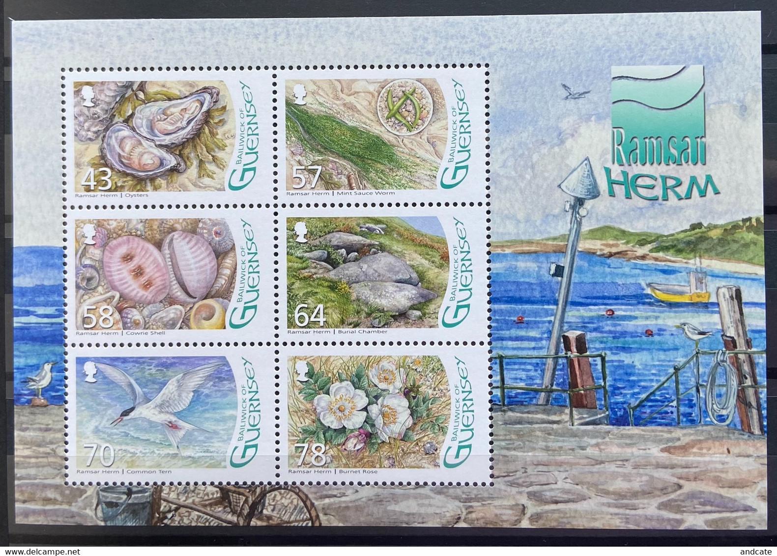Guernsey 2016 MNH - Ramsar Herm - Guernsey