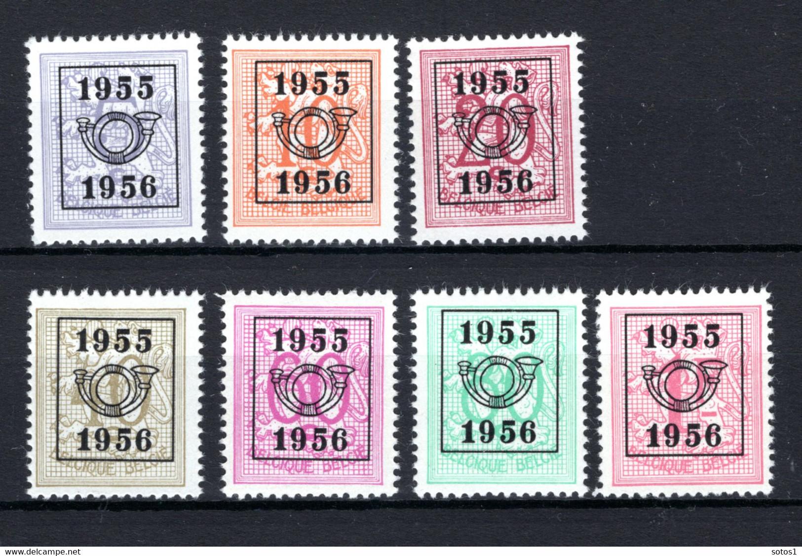 PRE652/658 MNH** 1955 - Cijfer Op Heraldieke Leeuw Type E - REEKS 48 - Sobreimpresos 1951-80 (Chifras Sobre El Leon)