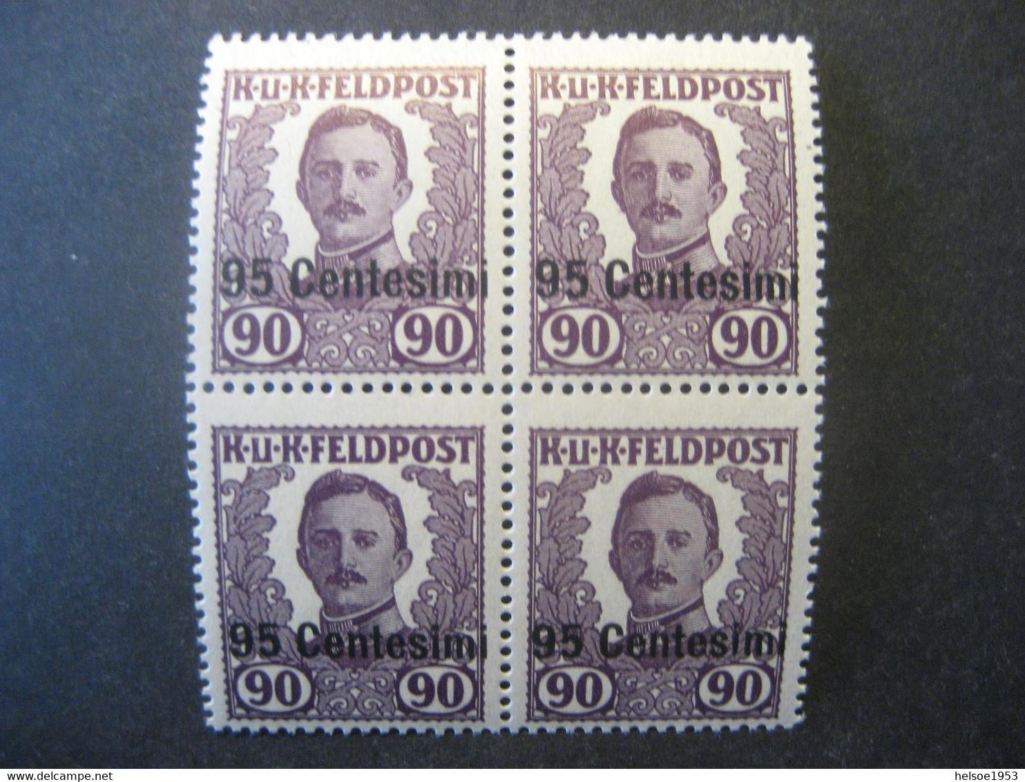 Österreich 1918- Ausgabe Für Italien, Österreich-ungarische Feldpost, Viererblock Karl I. Postfrisch MiNr. XIII** - Nuevos