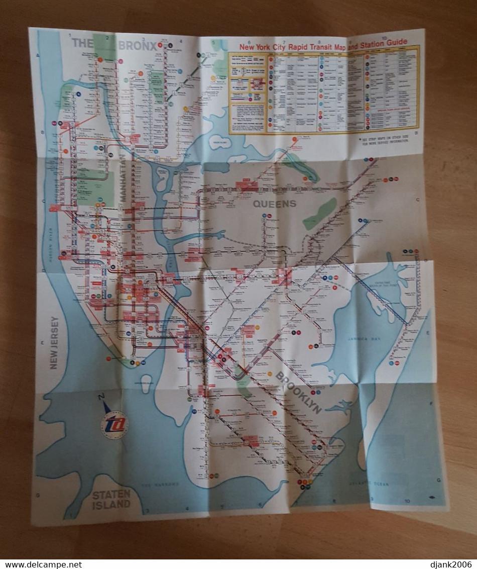 1960'S SUBWAY MAP & GUIDE NEW YORK CITY NYC TA TRANSIT AUTHORITY - World