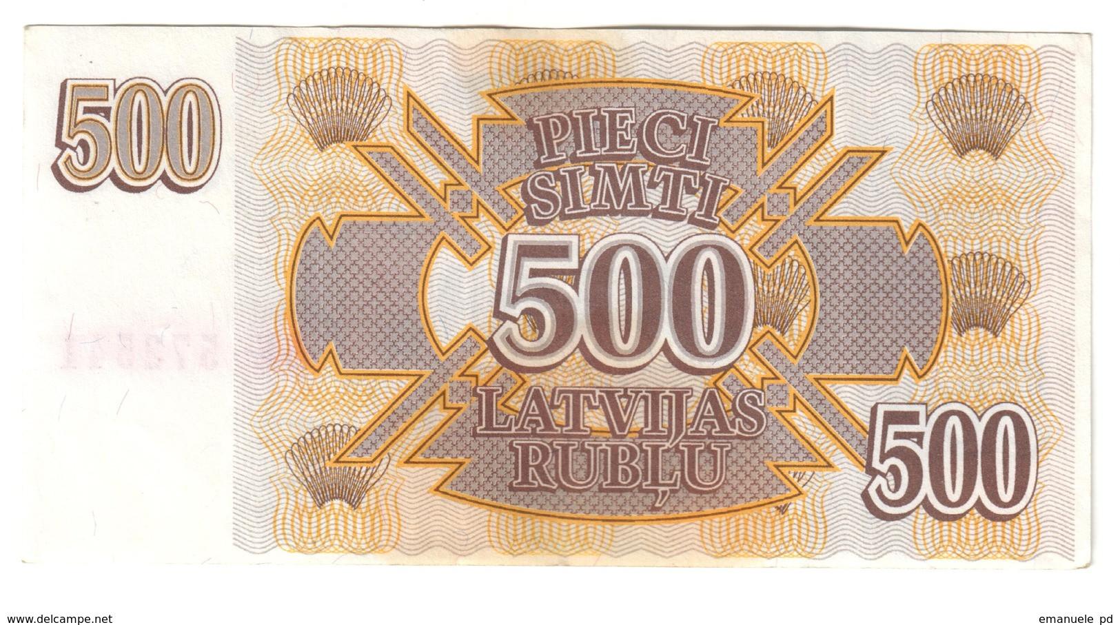 Latvia 500 Rublus 1992 .J. - Lettonia
