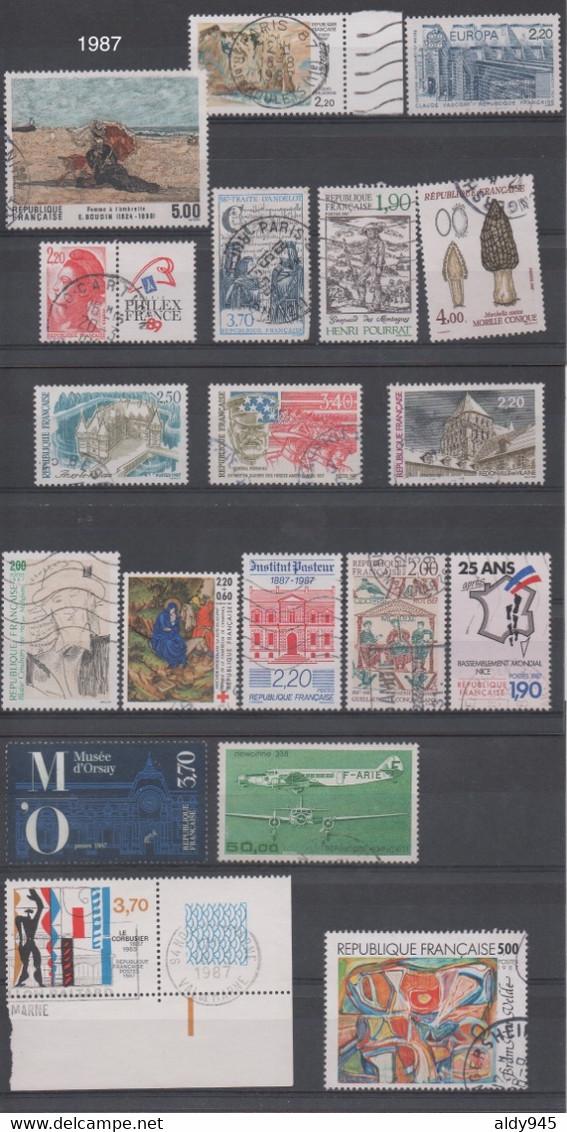 PHIL - LOT DE + 300 TIMBRES De FRANCE, OBLITÉRÉS EN PARFAIT ÉTAT. PRIX ATTRACTIF - V116 - Verzamelingen