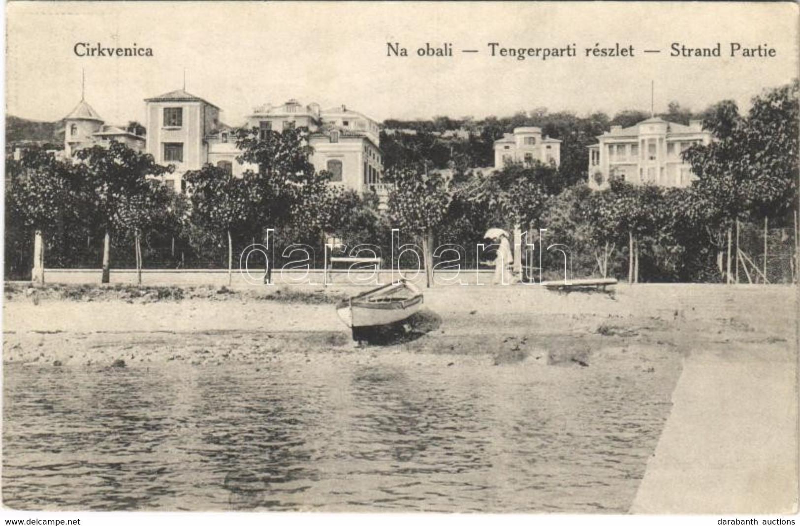 T2 1913 Cirkvenica, Crikvenica; Tengerparti Részlet / Seaside - Unclassified
