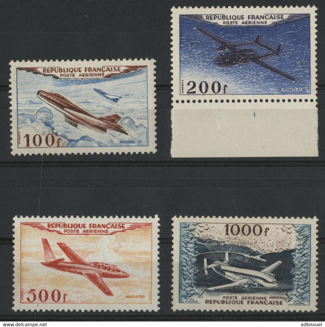 POSTE AERIENNE N° 30 à 33  Cote : 200 € (voir Description) - 1927-1959 Mint/hinged