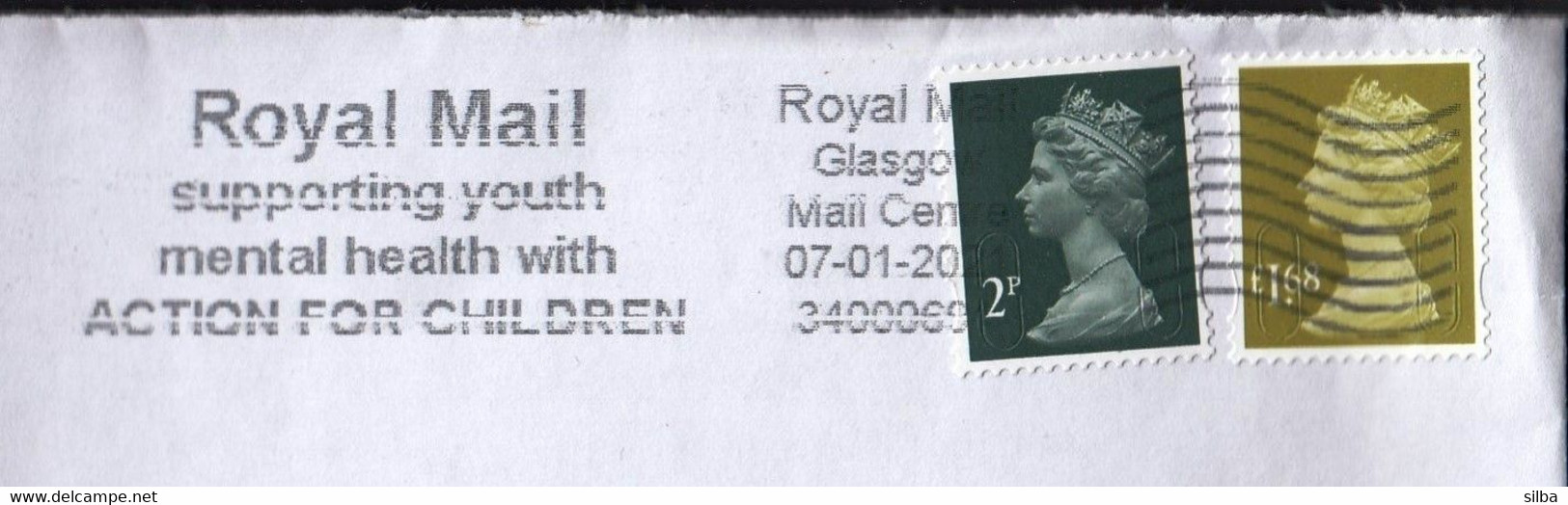 Great Britain Glasgow 2021 / Royal Mail Supporting Youth Mental Health With Action For Children, Medicine /Machine Stamp - Cartas