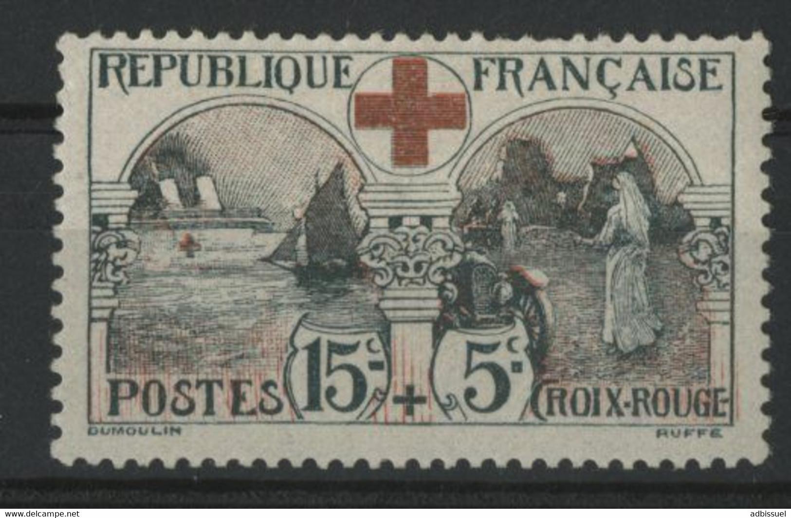 """N° 156 COTE 140 € Neuf * (MH). TB. """"15ct + 5ct Au Profit De La Croix Rouge"""". - Ungebraucht"""