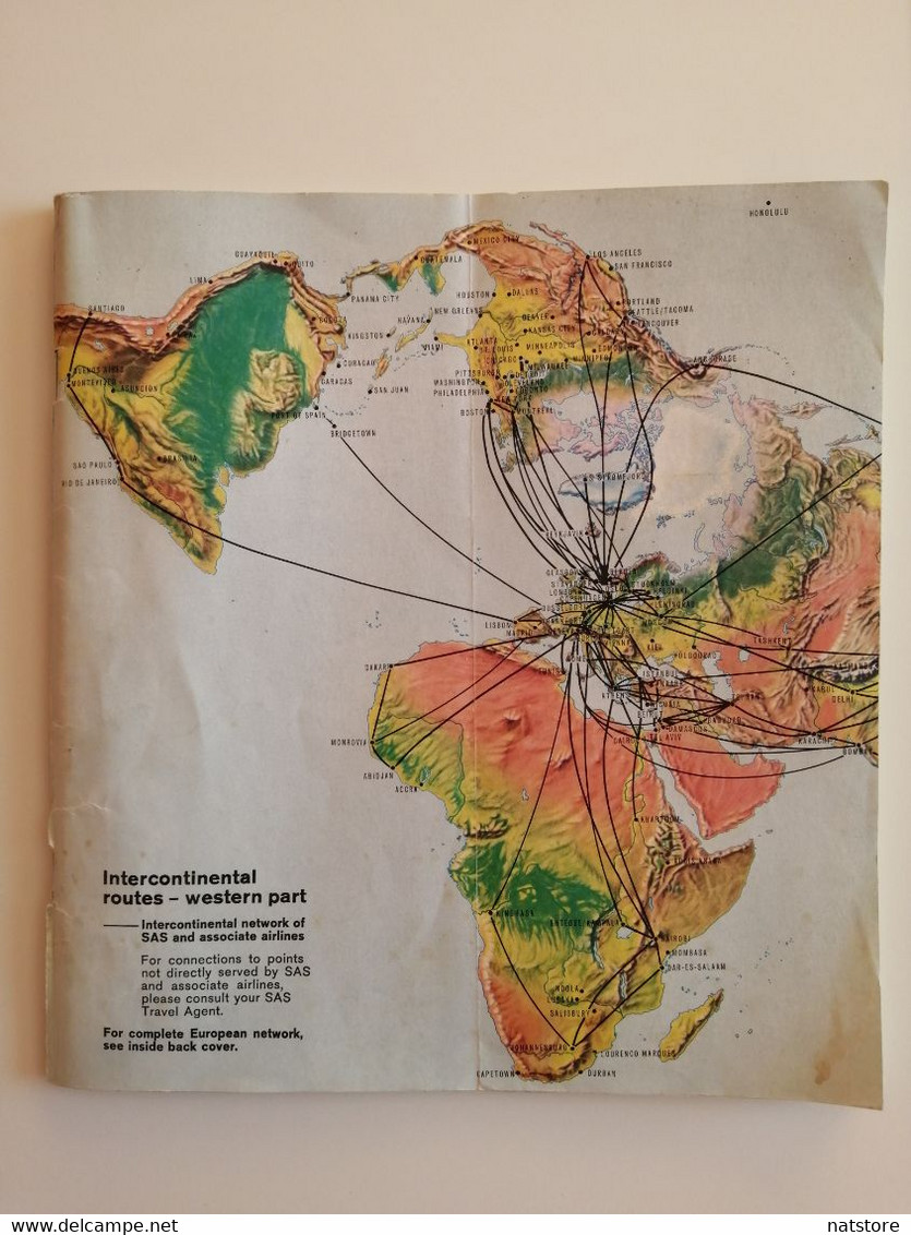 1972..EASTERN EUROPE..SAS..TIMETABLE ..FLUGPLAN - World