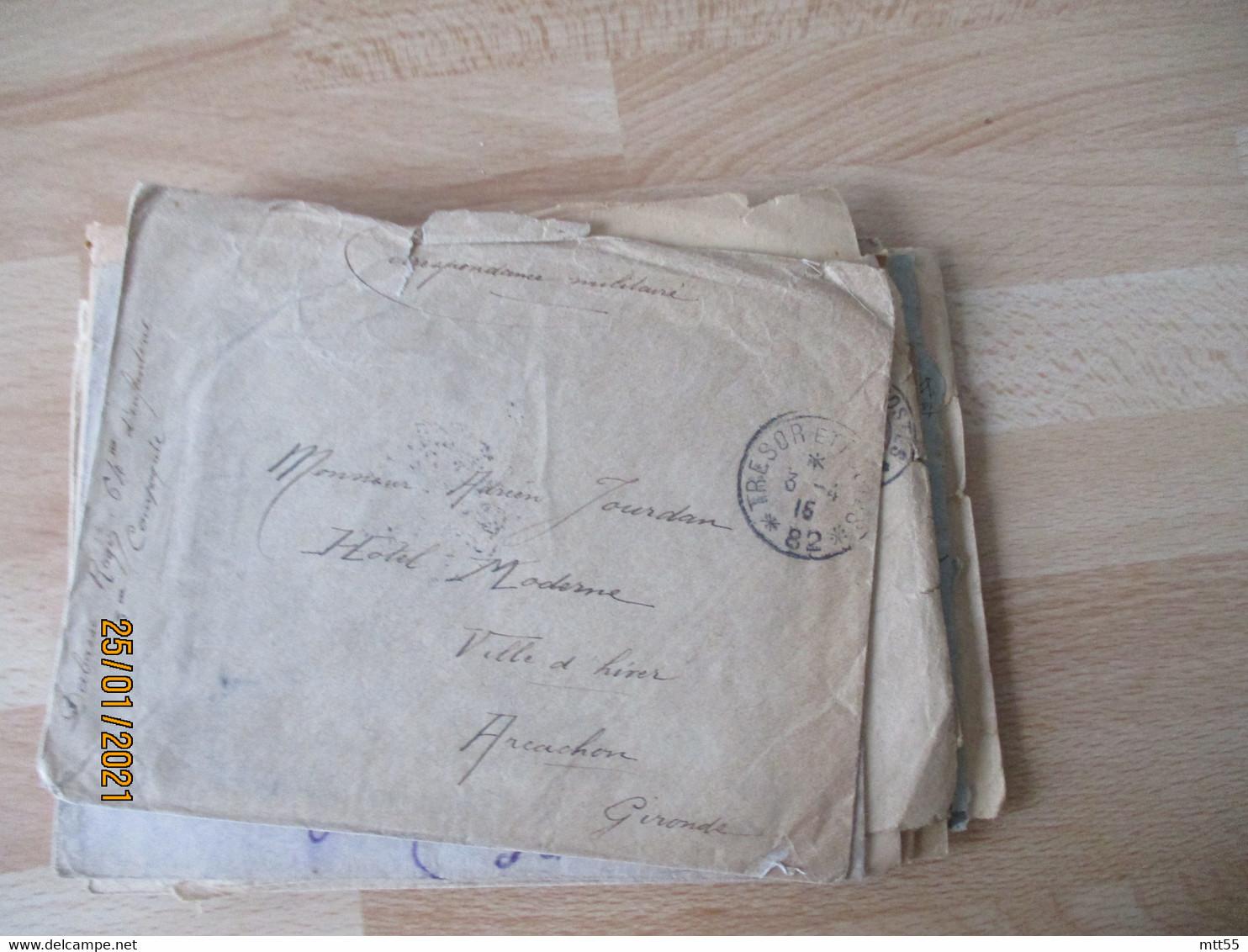 Lot De 50 Tresor Et Postes 1 Cercle 2 Etoiles   Franchise Postale Militaire Guerre 14.18 - Guerra De 1914-18