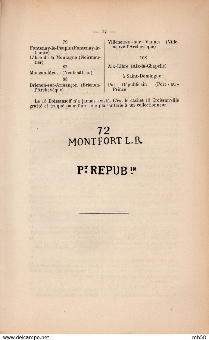 André LERALLE 1944 - A.B.C. Du Collectionneur De Marques Postales - Annullamenti