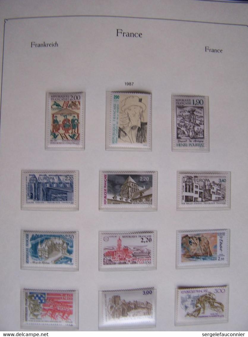 ALBUM FRANCE 1985-1987  17 Pages De Timbres Neufs Dans Album KA-BE Préimprimées Avec Pochettes - Colecciones Completas