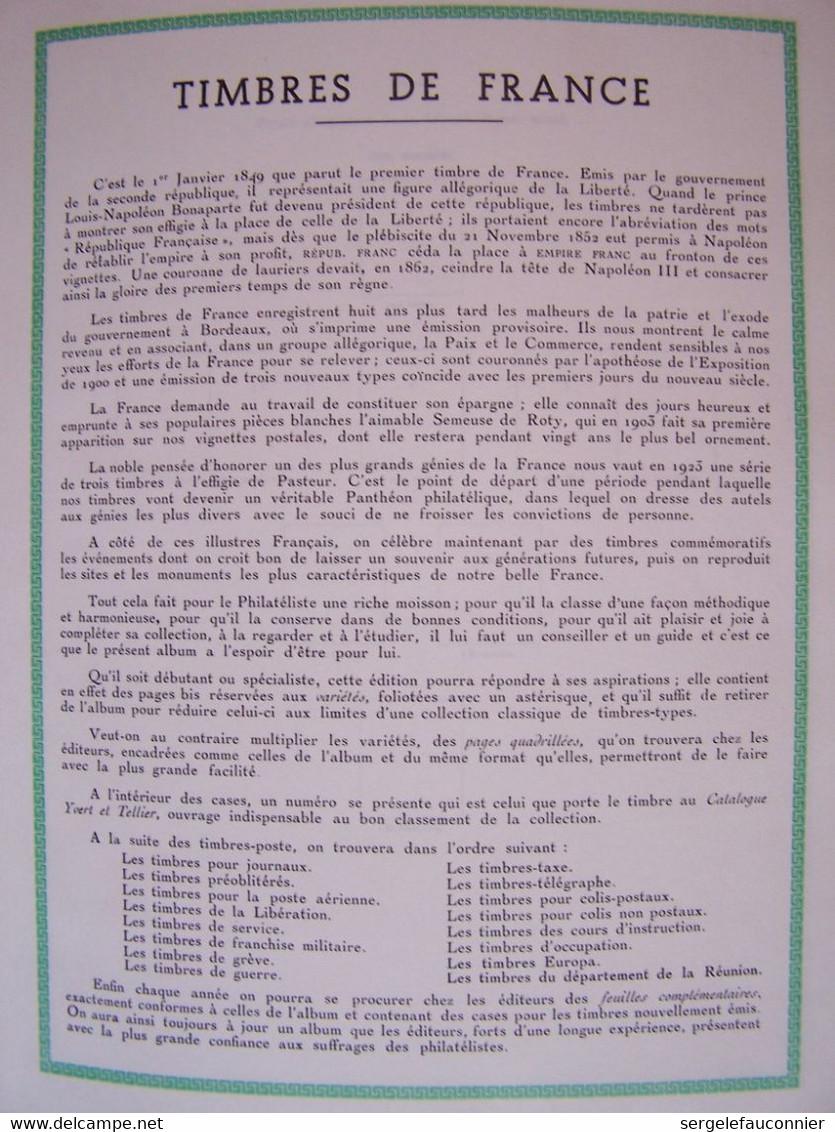 ALBUM FRANCE NEUFS  Yvert Et Tellier Gamme Futura Pages Préimprimées 154 Pages De Timbres Sur La Période 1849-1983 - Collezioni