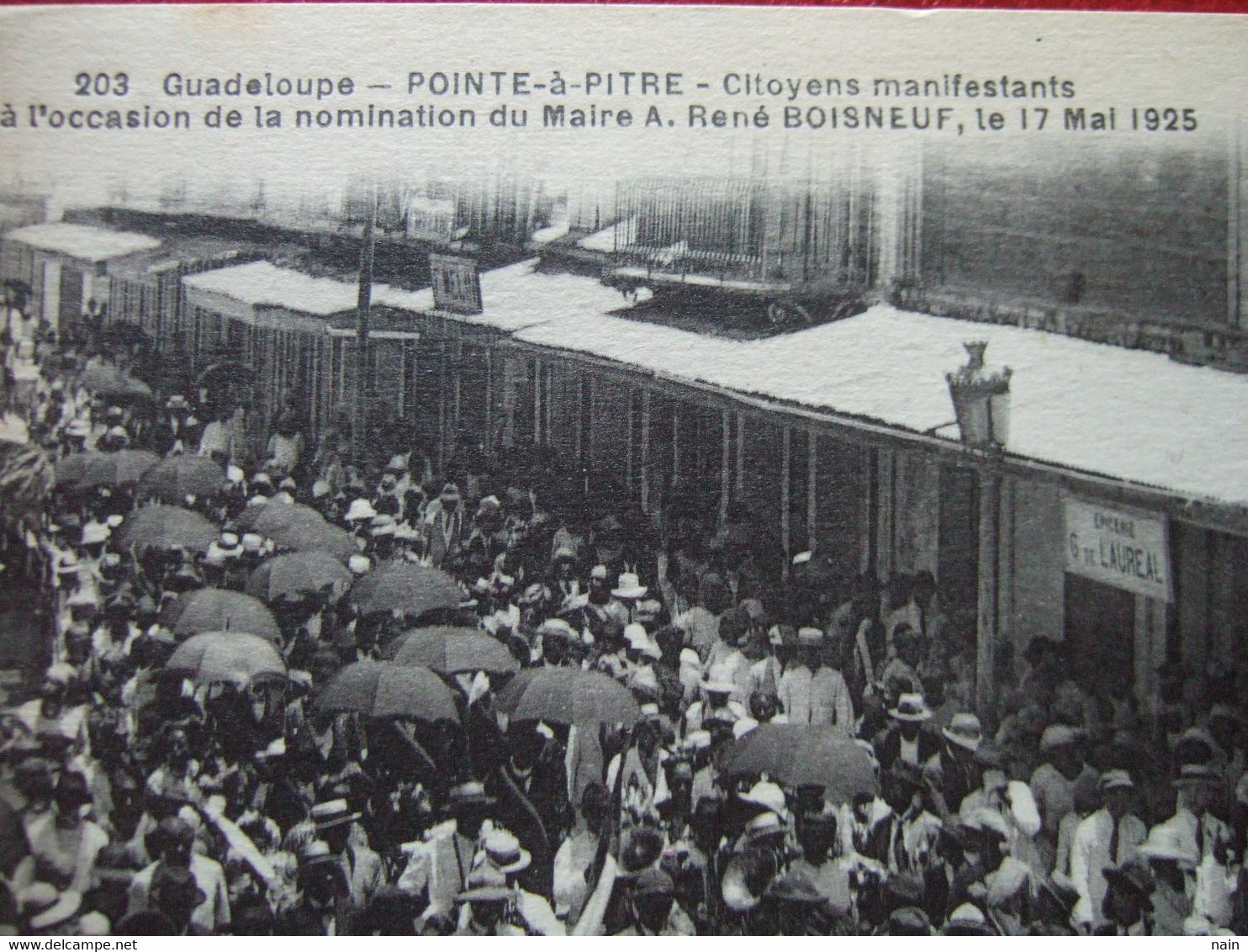 "GUADELOUPE - POINTRE A PITRE - "" CITOYENS MANIFESTANTS ..NOMINATION MAIRE RENE BOISNEUF LE 17 MAI 1925 "" - "" TRES RARE "" - Sin Clasificación"
