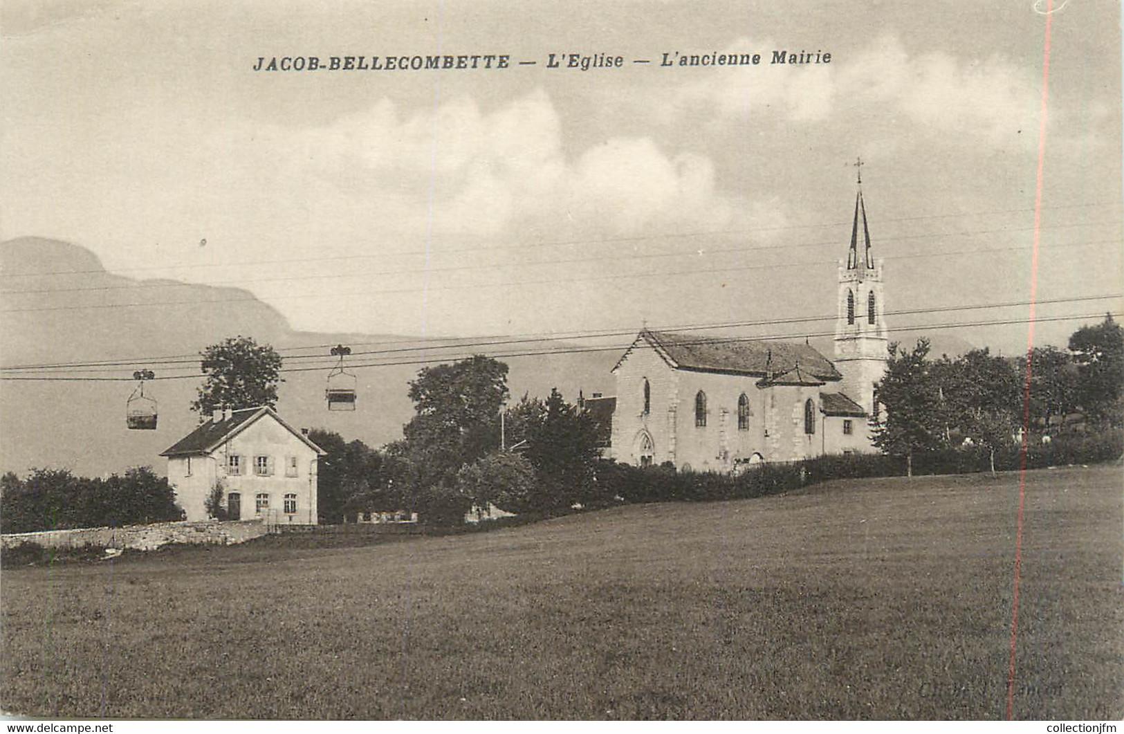 """CPA FRANCE 73 """"Jacob - Bellecombette, L'église Et L'ancienne Mairie"""" - Other Municipalities"""
