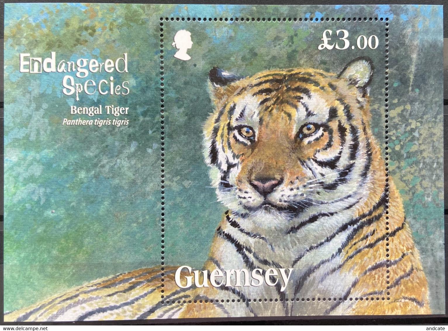 Guernsey 2012 MNH - Endangered Species Bengal Tiger - Guernsey