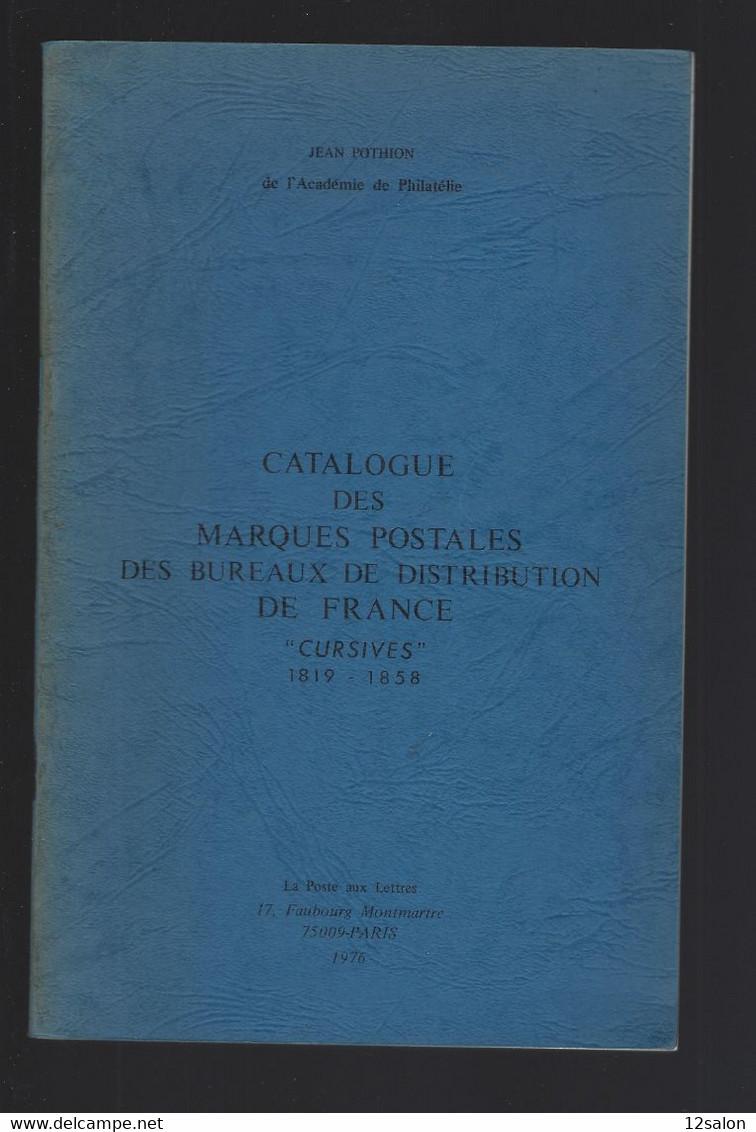 MARQUES POSTALES ET OBLITERATION  DE FRANCE CURSIVE POTHION 1976 - Filatelia E Storia Postale