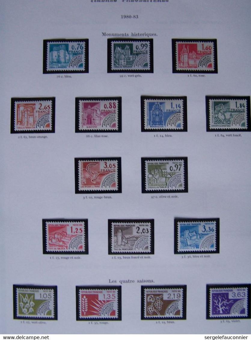 ALBUM FRANCE 1868-1983 Classeur Yvert Tellier Pages Préimprimées De La Page 101 Timbres Pour Journaux à Page 308 Europa - Collezioni