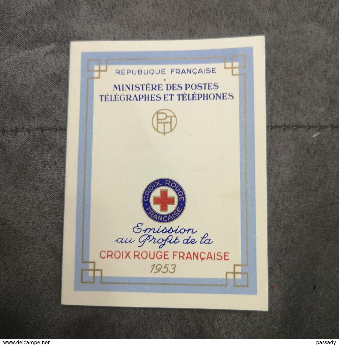⭐ Carnet CROIX-ROUGE 1953, Timbres NEUFS** - Excellent État Sans Charnières Vigée-Lebrun Louis Le Nain ⭐ - Croce Rossa