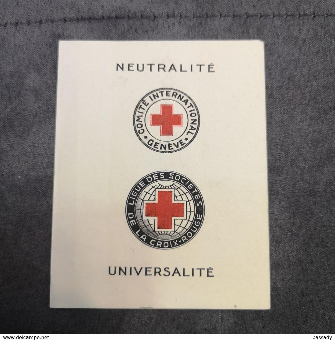 ⭐ Carnet CROIX-ROUGE 1955, Timbres NEUFS** - Excellent État Sans Charnières ⭐ - Cruz Roja