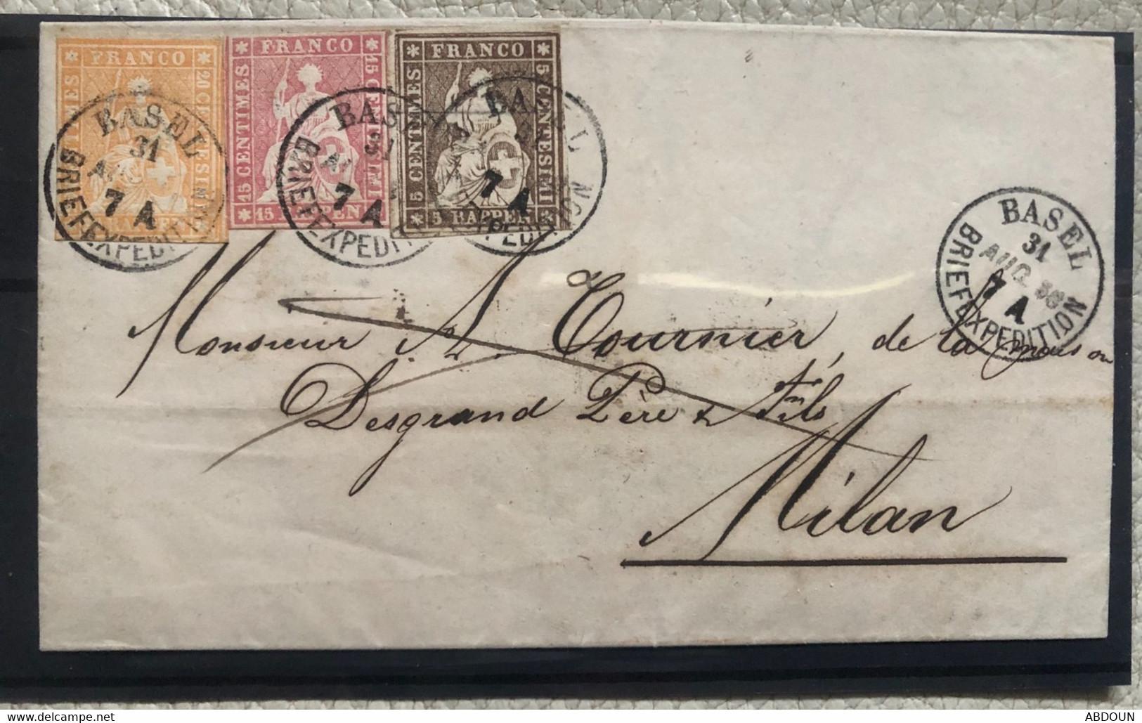 Suisse, Rare Lettre - Briefe U. Dokumente