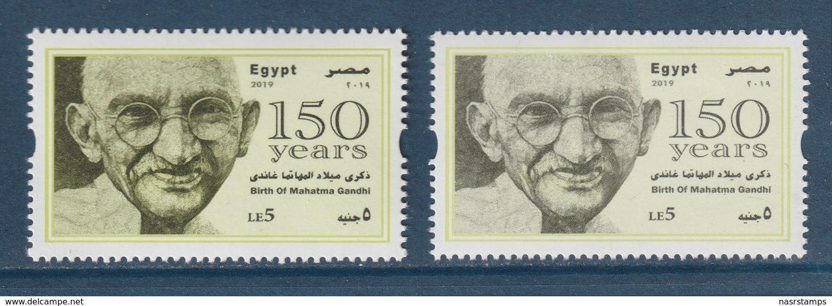 Egypt - 2019 - Color Variety - ( 150th Annie., Birth Of Mahatma Gandhi ) - MNH** - Nuovi