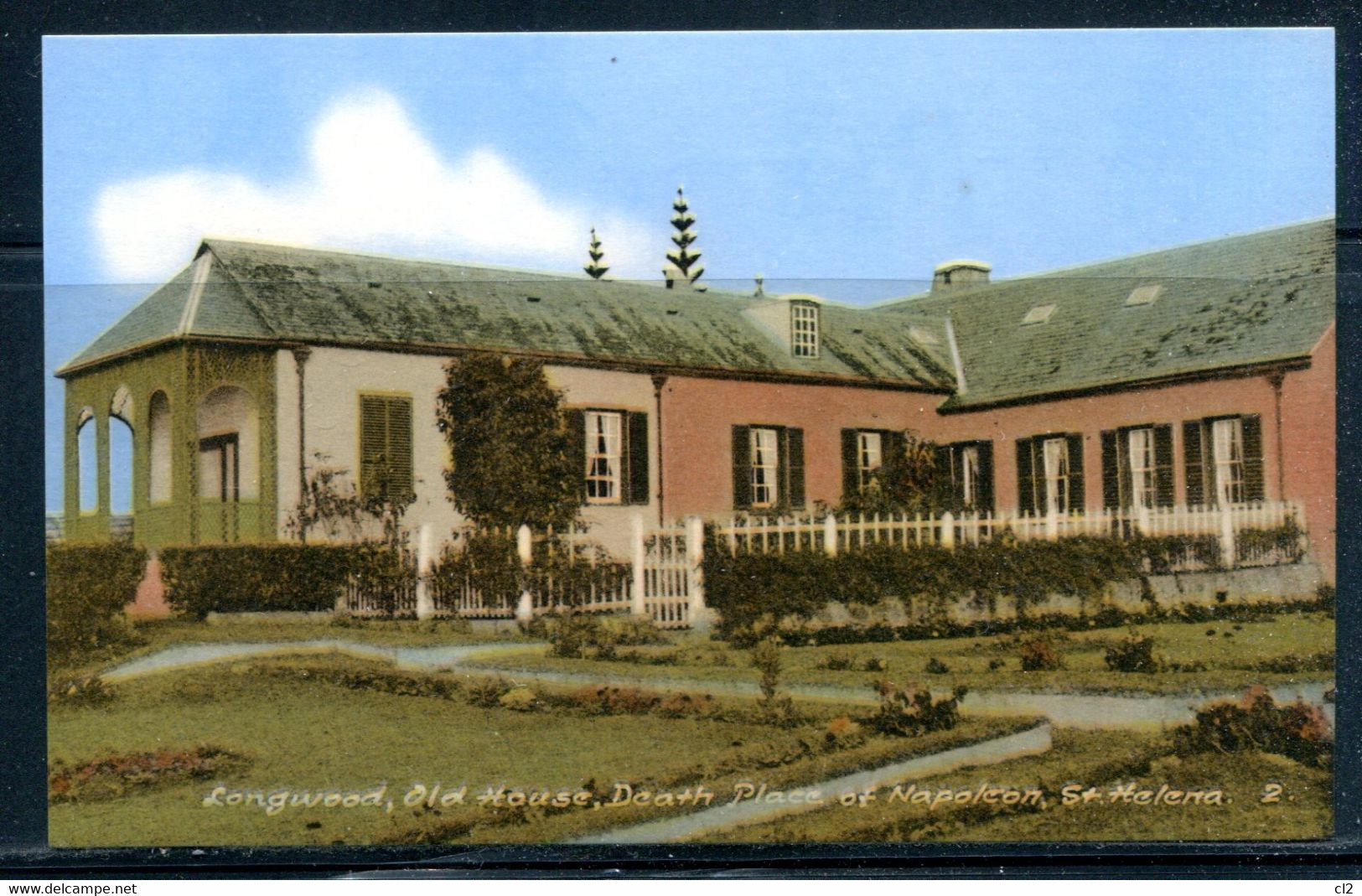 SAINTE HELENE - St. HELENA - Longwood Old House, Death Place Of NAPOLEON (carte Vierge) - Saint Helena Island