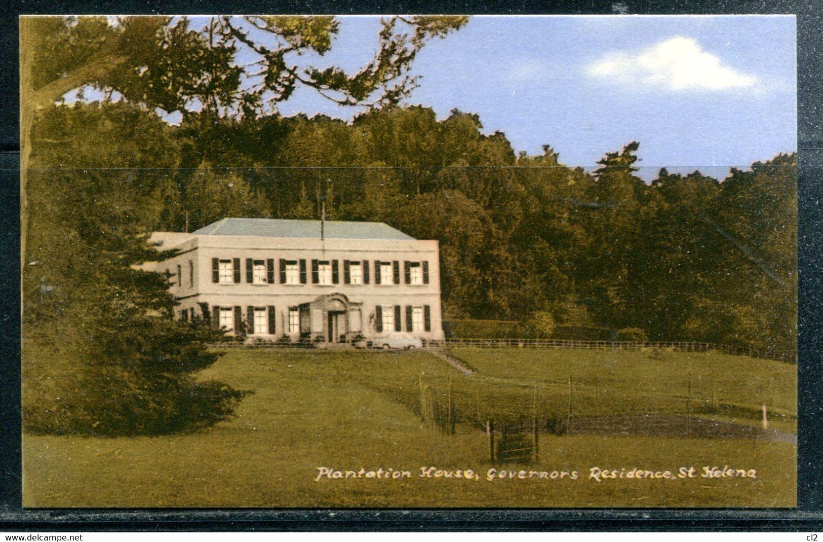 SAINTE HELENE - St. HELENA - Plantation House, Governor's Residence (carte Vierge) - St. Helena