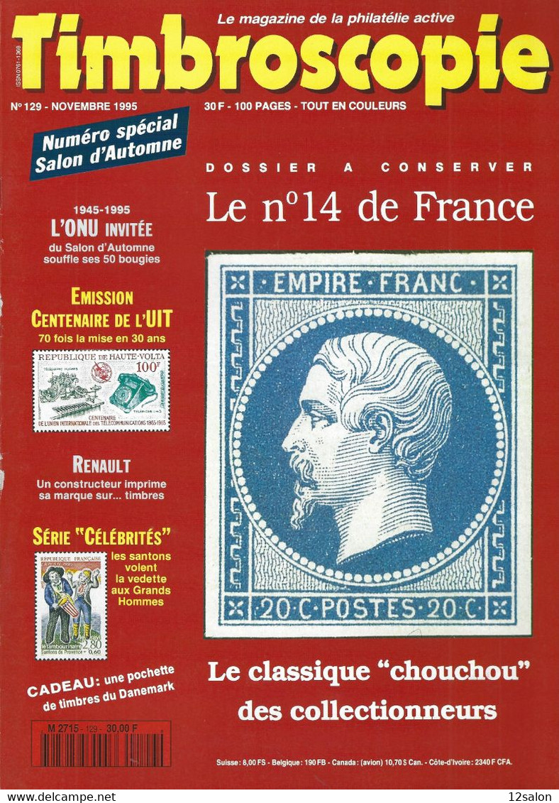 TIMBROSCOPIE  N° 129 + SOMMAIRE - Francesi (dal 1941))