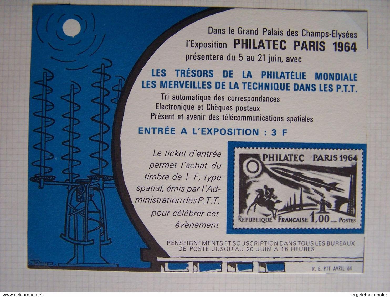 FRANCE PHILATEC PARIS 1964 TIMBRE NEUF ET 2 DOCS - Nuovi