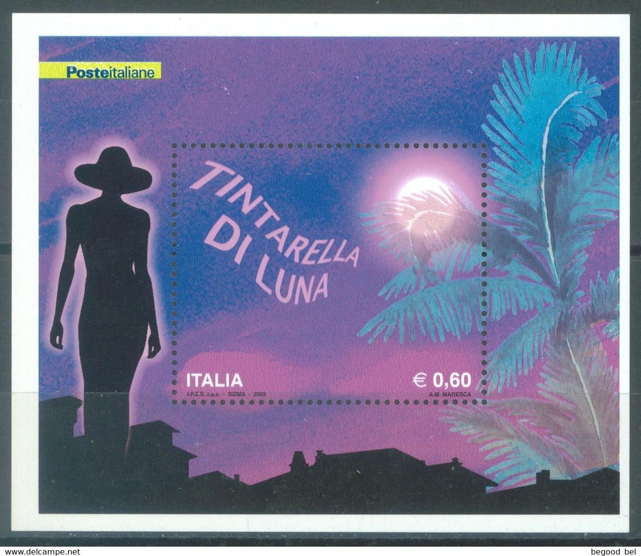 ITALIA - 2009 -  MNH/*** LUXE - TINTARELLA DI LUNA - Sa FOGLIETTO 47  Yv BLOC 46 - Lot 23325 - Hojas Bloque