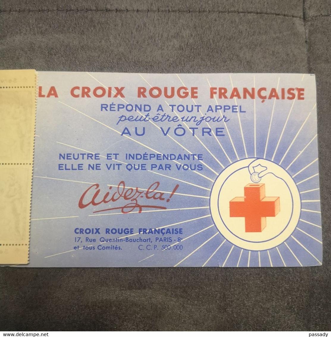 ⭐ Carnet CROIX ROUGE N°2001, Timbres NEUFS** 1952 - Excellent État Côté Y&T 550€ Versailles Bassin De Diane ⭐ - Croce Rossa