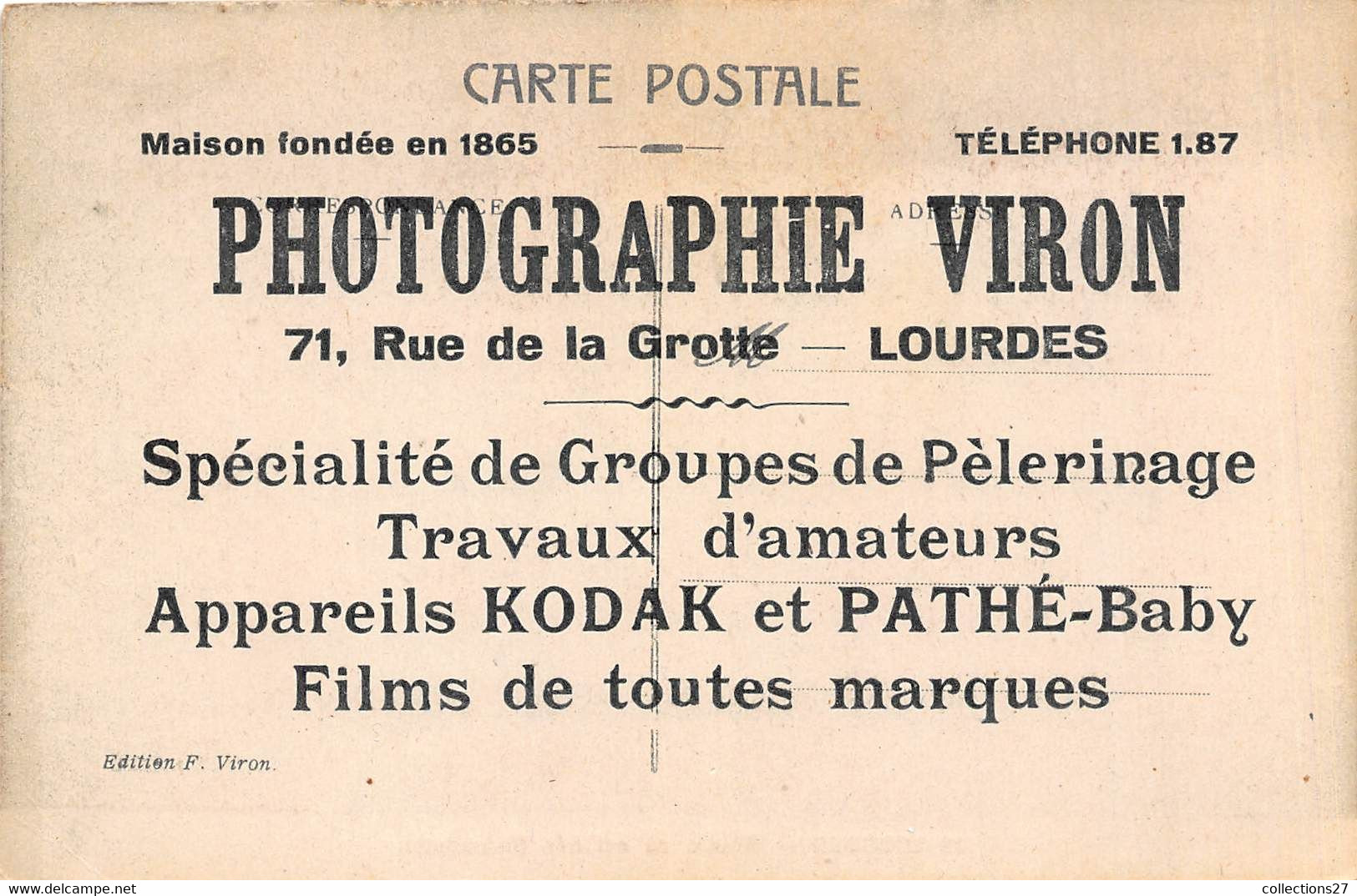 65-LOURDES- LOT DE 500 CARTES POSTALES ANCIENNES - QUELQUES EXEMPLES - 500 Postcards Min.