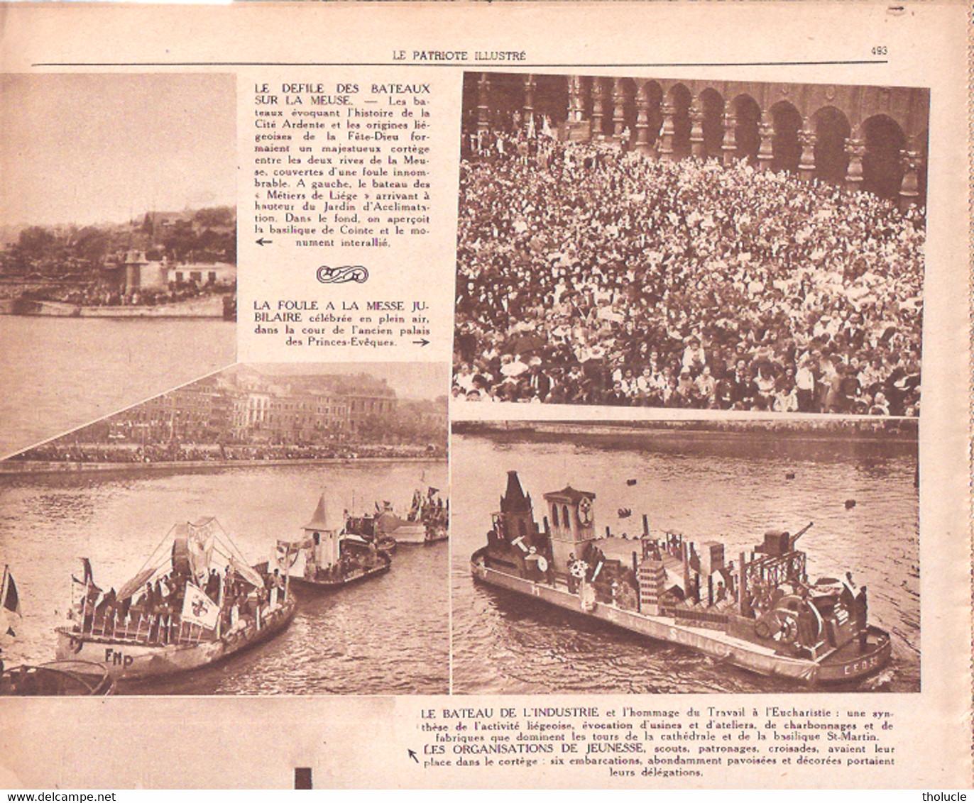Liège-le VIIe Centenaire De La Fête-Dieu-Procession Nautique -Historique Sur La Meuse-Bateau(x)-Patriote Illustré-6/1946 - 1900 - 1949