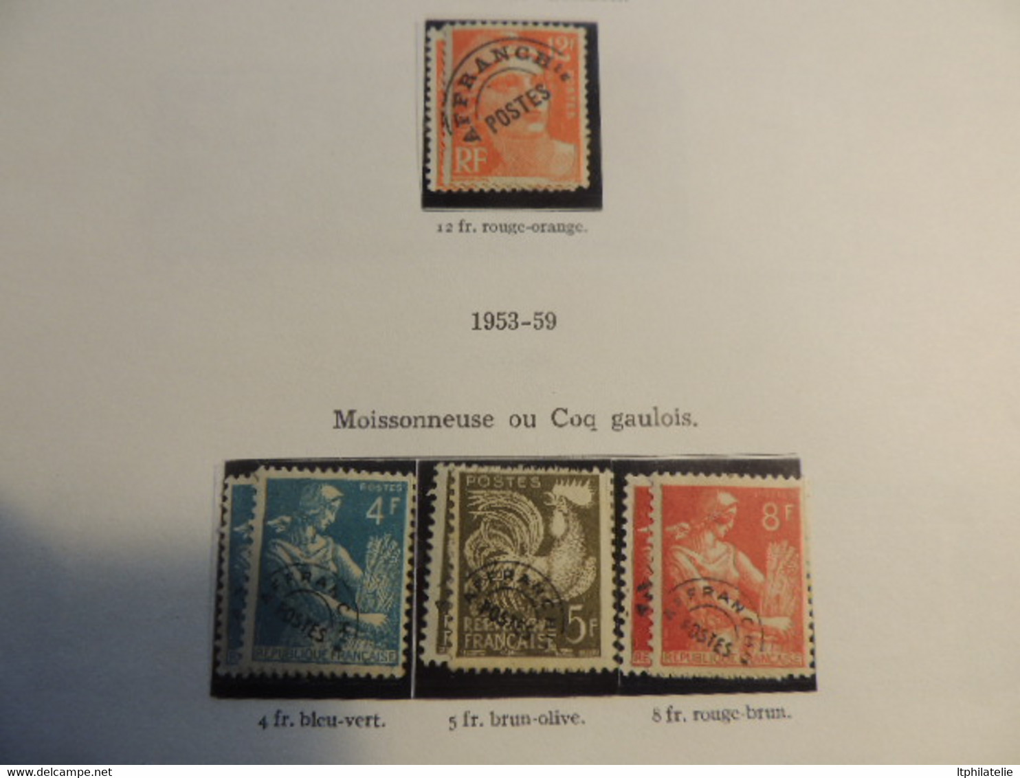 DESTOCK. Collection France Album Fin De Catalogue, PA, Préoblitérés, Colis Postaux, Taxe, Cfa...neufs Oblitérés AFFAIRE - Collections (with Albums)