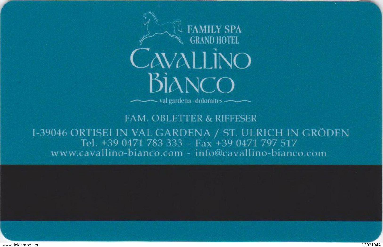 ITALIA KEY HOTEL  Cavallino Bianco  -     Ortisei - Cartes D'hotel