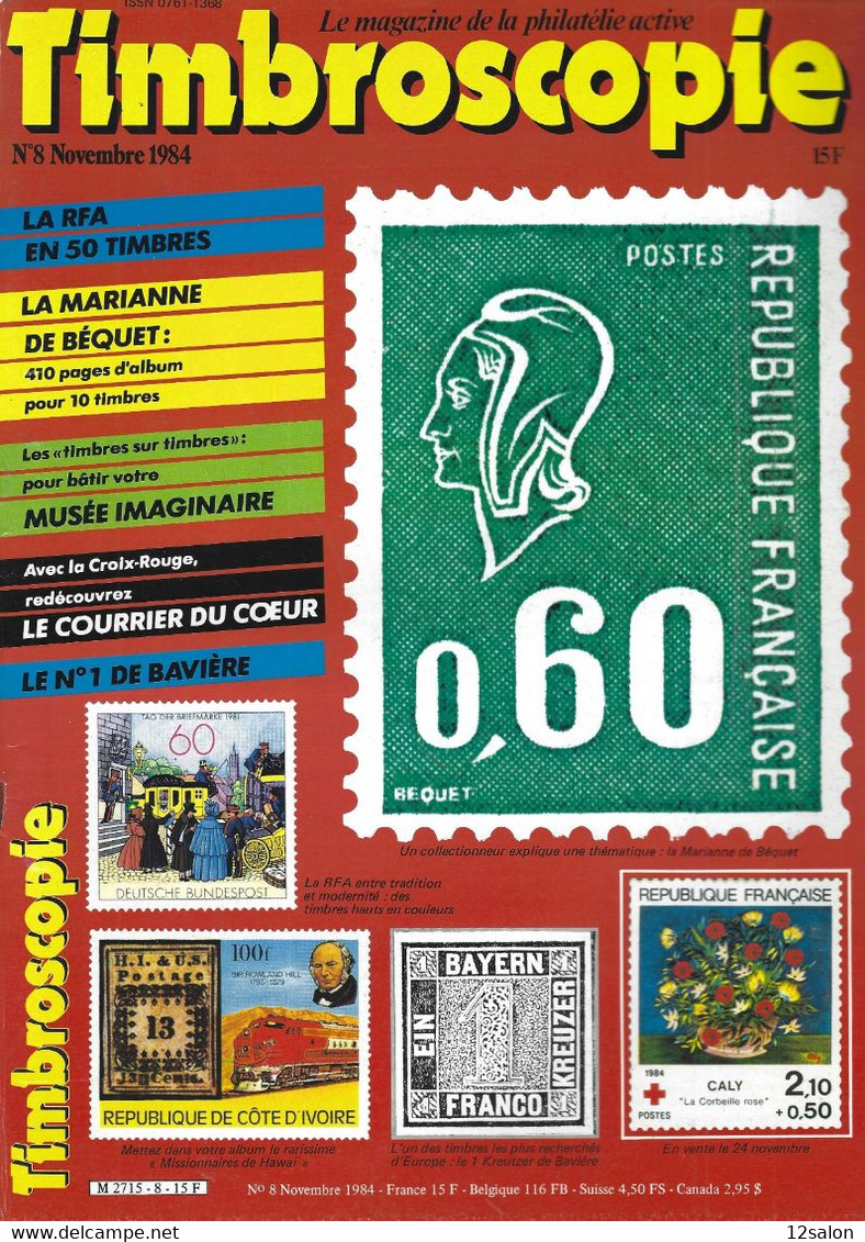 TIMBROSCOPIE  N° 8 + SOMMAIRE - Francesi (dal 1941))
